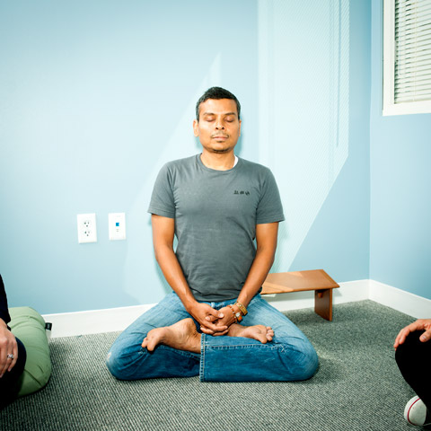 Facebook's meditation room.
